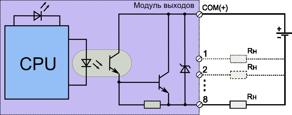 Транзисторный выходной модуль
